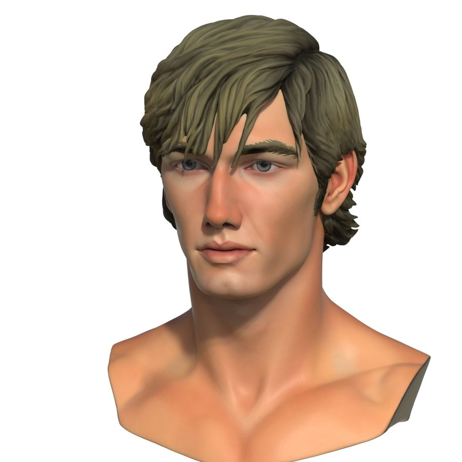 Alex Pettyfer Textured royalty-free 3d model - Preview no. 12