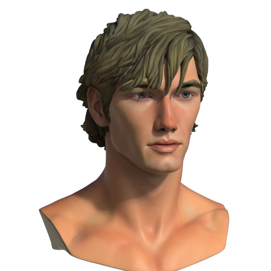 Alex Pettyfer Textured royalty-free 3d model - Preview no. 7
