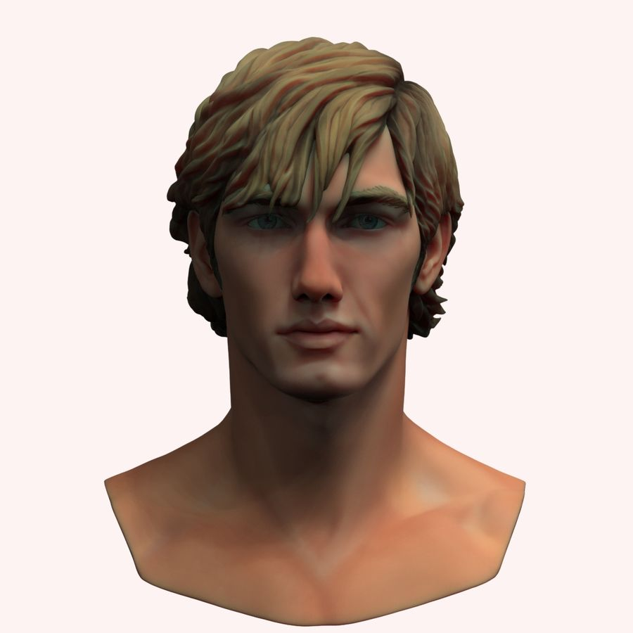 Alex Pettyfer Textured royalty-free 3d model - Preview no. 1