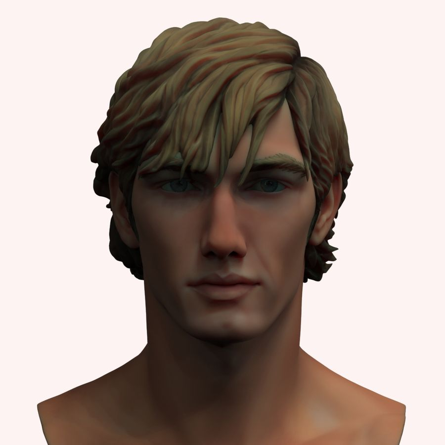 Alex Pettyfer Textured royalty-free 3d model - Preview no. 2