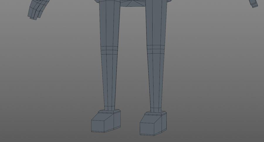 Oficial dos desenhos animados royalty-free 3d model - Preview no. 19