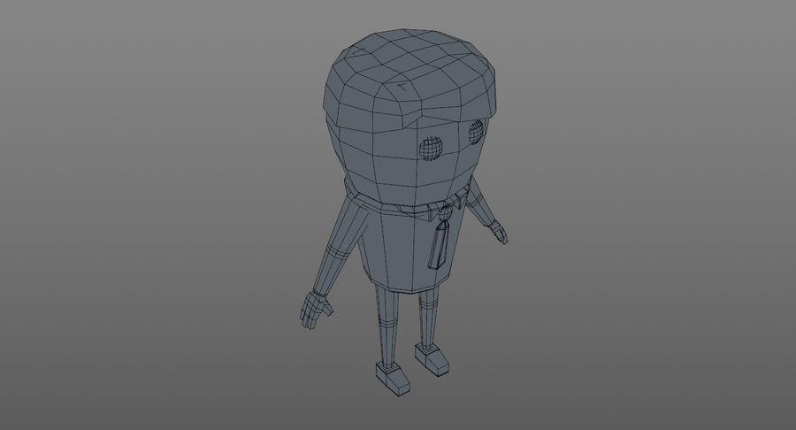 Oficial dos desenhos animados royalty-free 3d model - Preview no. 17