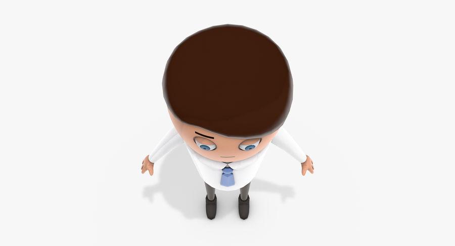 Oficial dos desenhos animados royalty-free 3d model - Preview no. 6