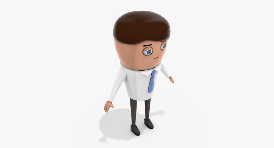 Oficial dos desenhos animados royalty-free 3d model - Preview no. 8