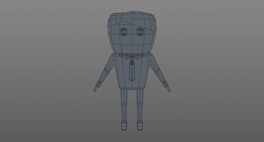 Oficial dos desenhos animados royalty-free 3d model - Preview no. 16