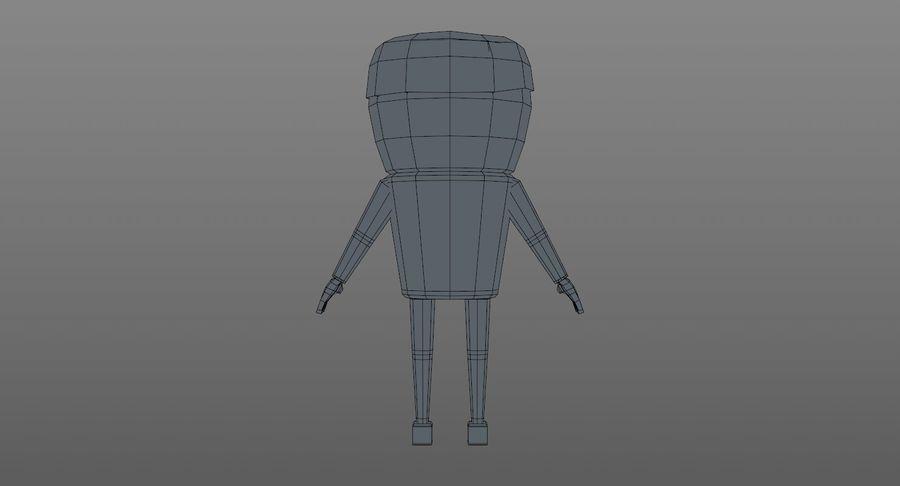 Oficial dos desenhos animados royalty-free 3d model - Preview no. 14