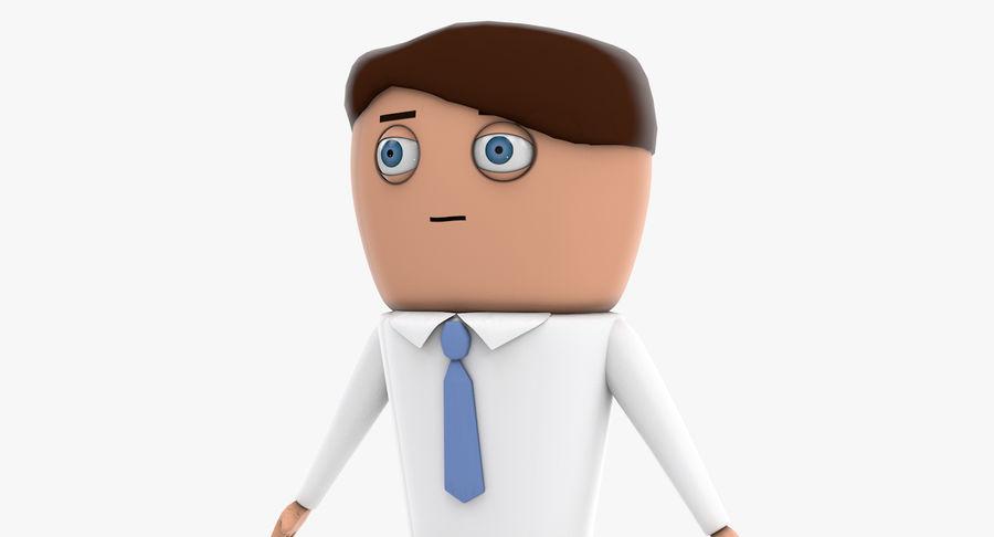 Oficial dos desenhos animados royalty-free 3d model - Preview no. 9