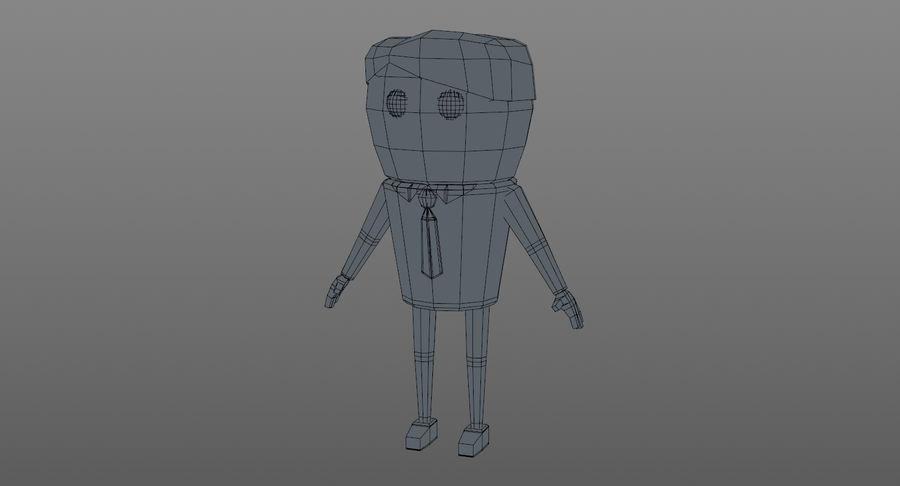 Oficial dos desenhos animados royalty-free 3d model - Preview no. 12