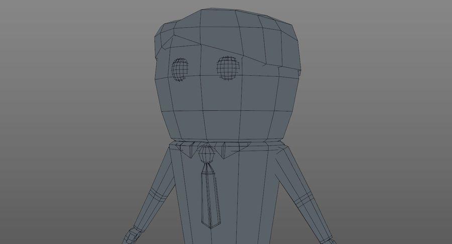 Oficial dos desenhos animados royalty-free 3d model - Preview no. 18