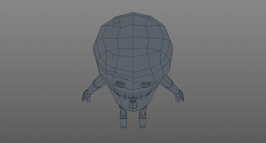 Oficial dos desenhos animados royalty-free 3d model - Preview no. 15