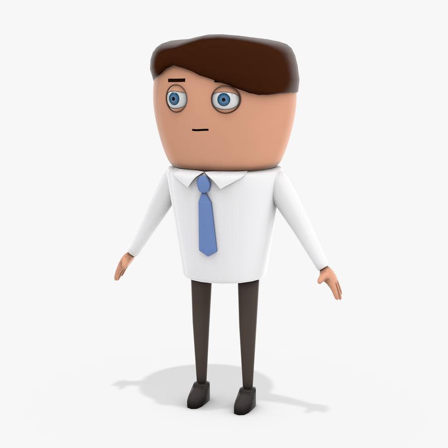 Oficial dos desenhos animados royalty-free 3d model - Preview no. 1