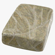 Large Wrapped Drug Brick Marijuana 01 3d model