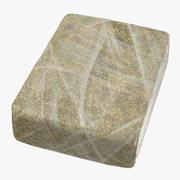 Large Wrapped Drug Brick Marijuana 02 3d model