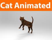 gato animado 3d model