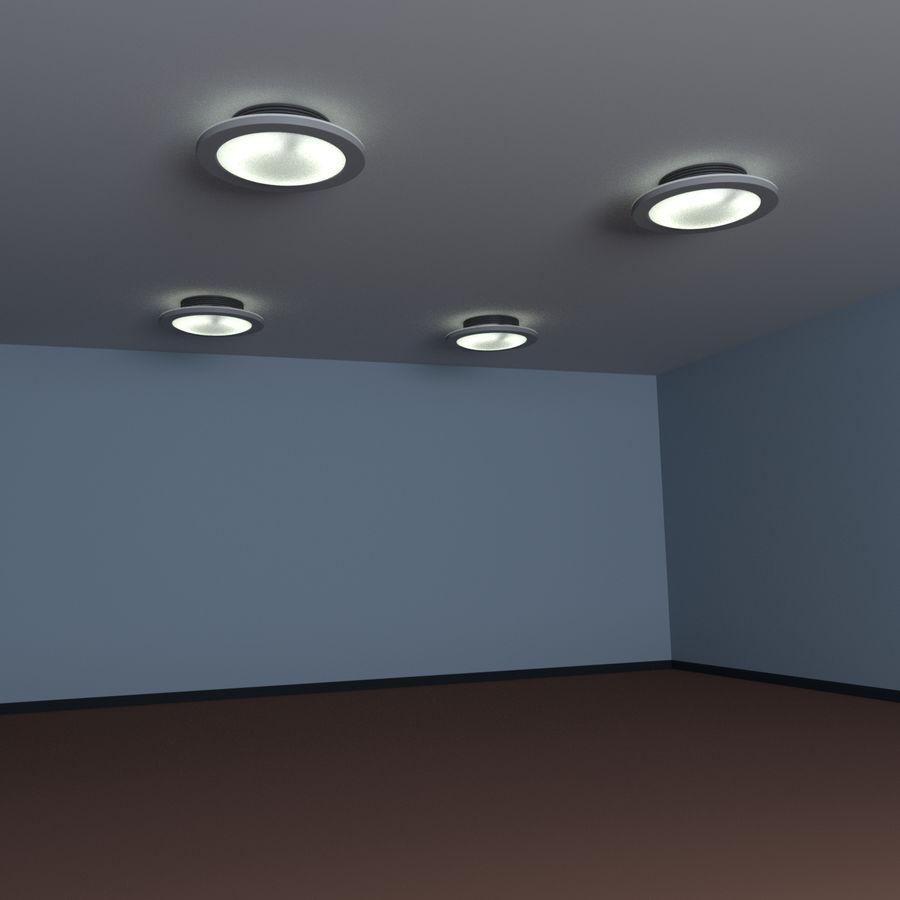 Fluoreszierende Deckenleuchte royalty-free 3d model - Preview no. 10