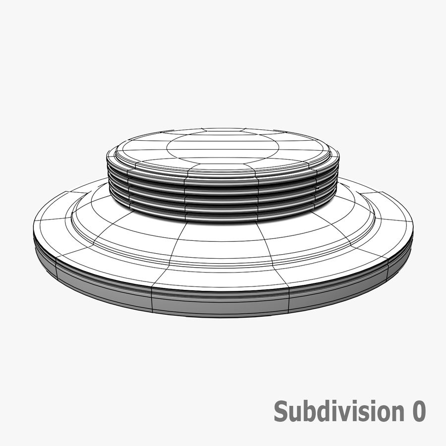 Fluoreszierende Deckenleuchte royalty-free 3d model - Preview no. 11