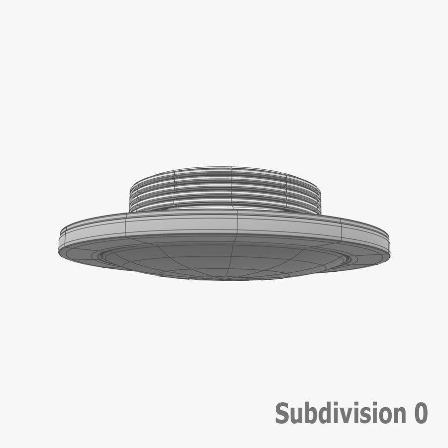 Fluoreszierende Deckenleuchte royalty-free 3d model - Preview no. 13