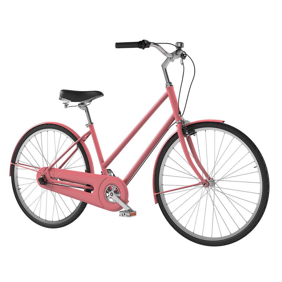 Lady Bike royalty-free 3d model - Preview no. 1