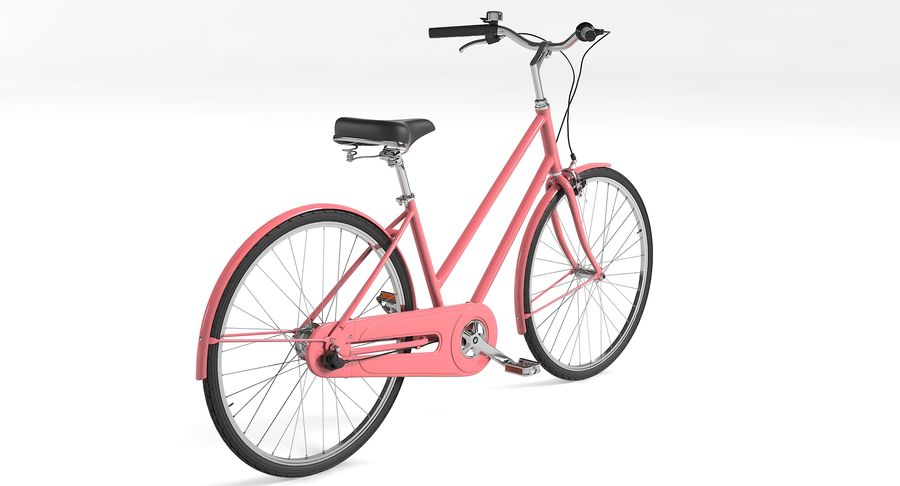 Lady Bike royalty-free 3d model - Preview no. 6