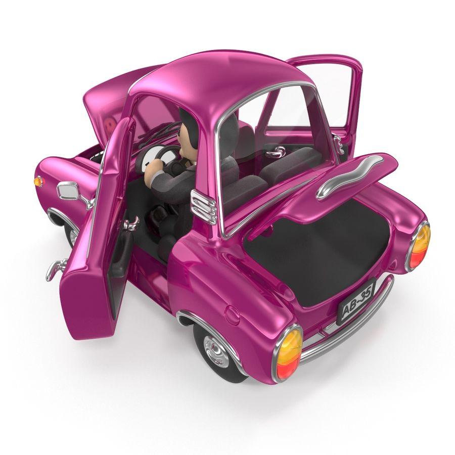 Cartoon samochód z kierowcą royalty-free 3d model - Preview no. 5