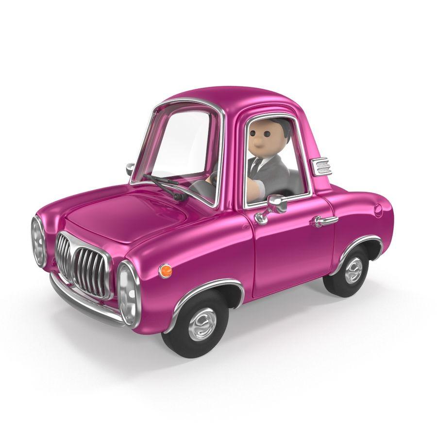 Cartoon samochód z kierowcą royalty-free 3d model - Preview no. 1