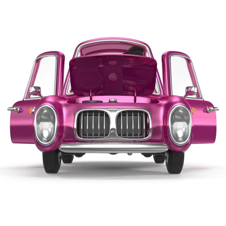 Cartoon samochód z kierowcą royalty-free 3d model - Preview no. 12