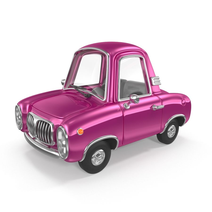 Cartoon samochód z kierowcą royalty-free 3d model - Preview no. 2