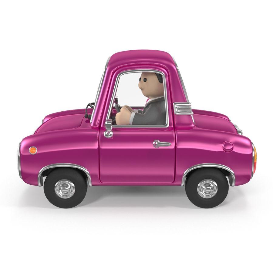 Cartoon samochód z kierowcą royalty-free 3d model - Preview no. 13