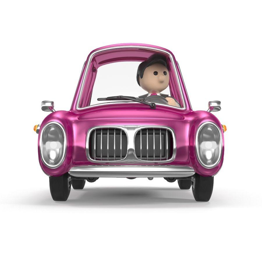 Cartoon samochód z kierowcą royalty-free 3d model - Preview no. 11