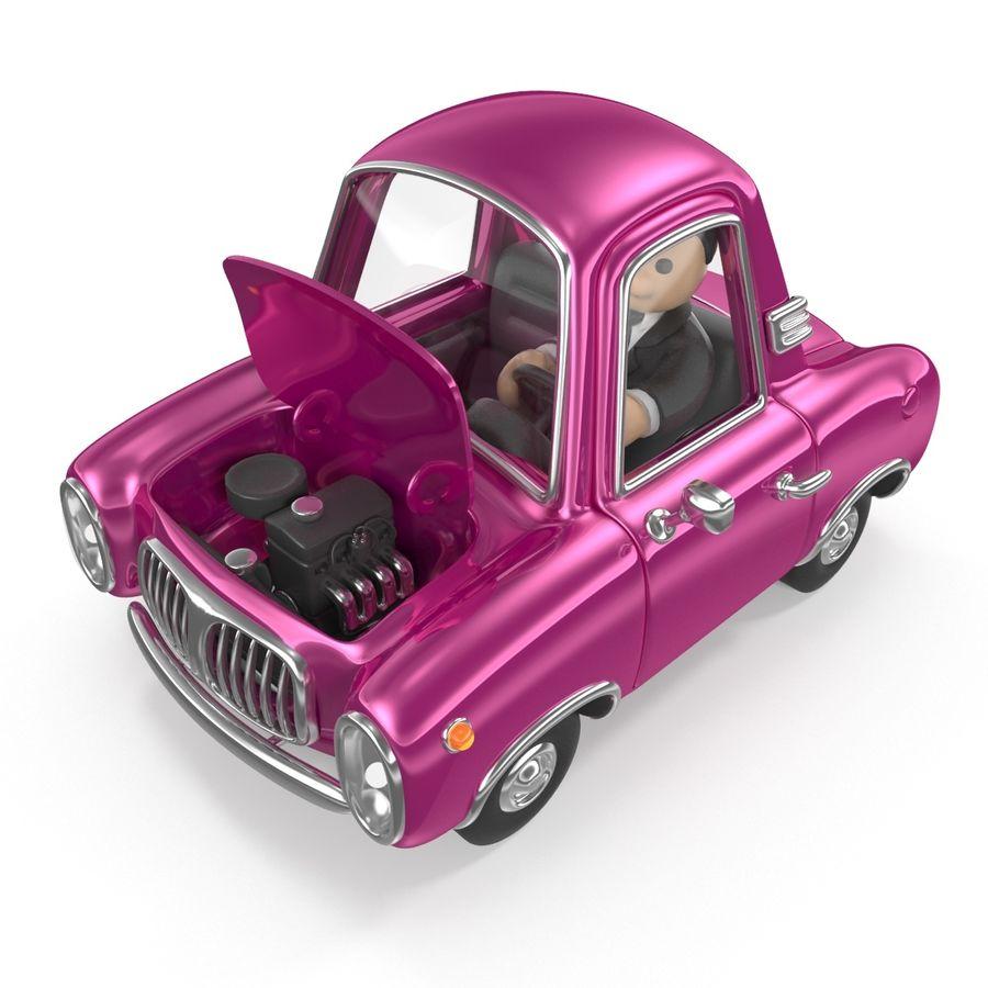 Cartoon samochód z kierowcą royalty-free 3d model - Preview no. 4