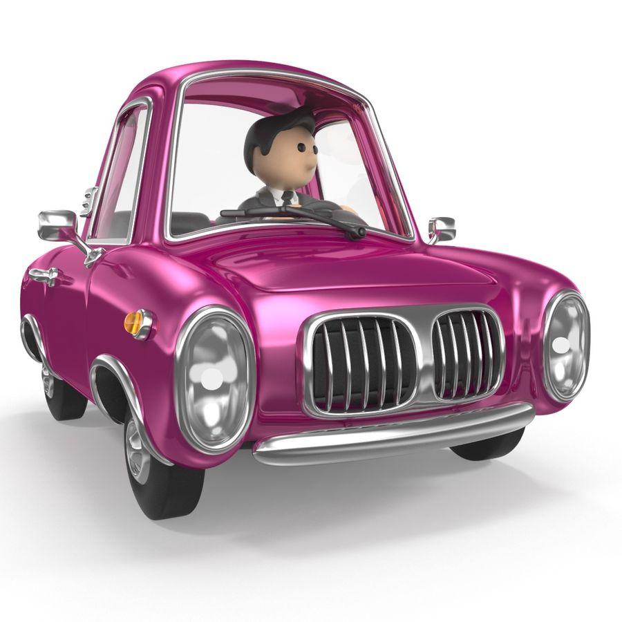 Cartoon samochód z kierowcą royalty-free 3d model - Preview no. 3