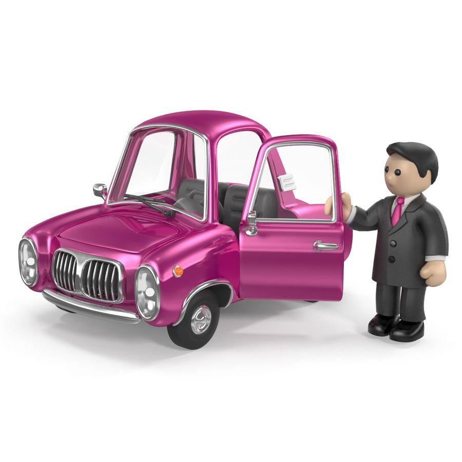 Cartoon samochód z kierowcą royalty-free 3d model - Preview no. 15
