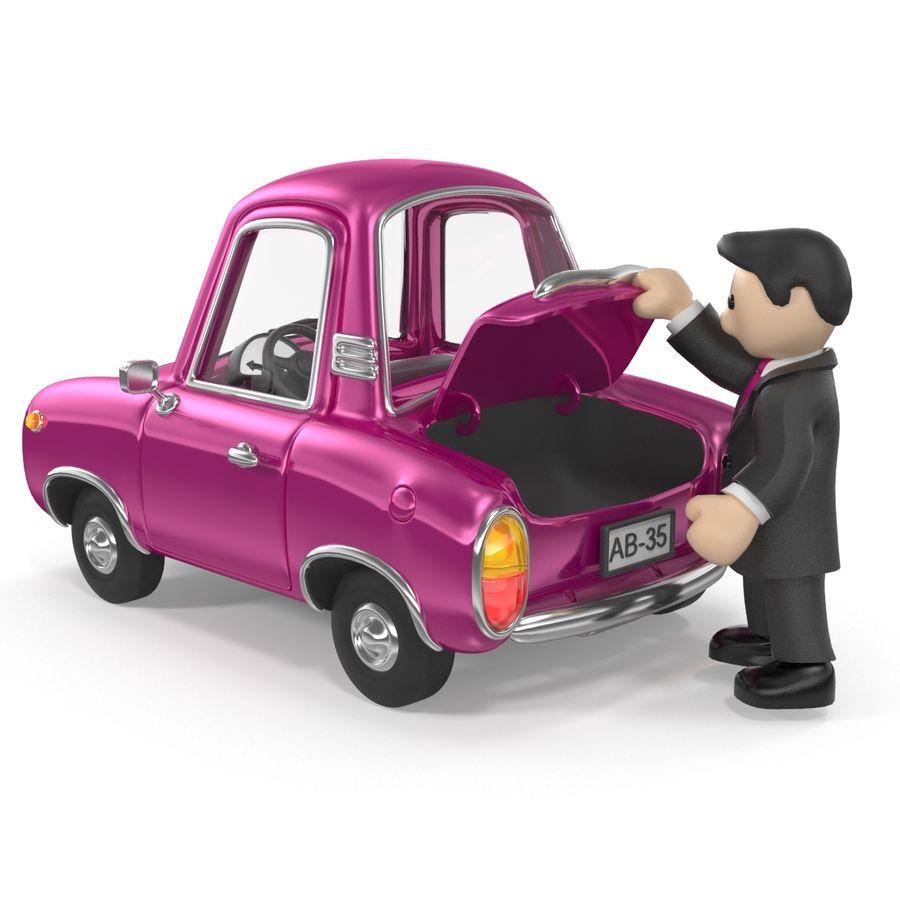 Cartoon samochód z kierowcą royalty-free 3d model - Preview no. 17