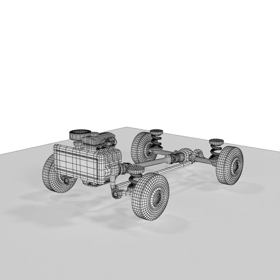 Cartoon samochód z kierowcą royalty-free 3d model - Preview no. 21