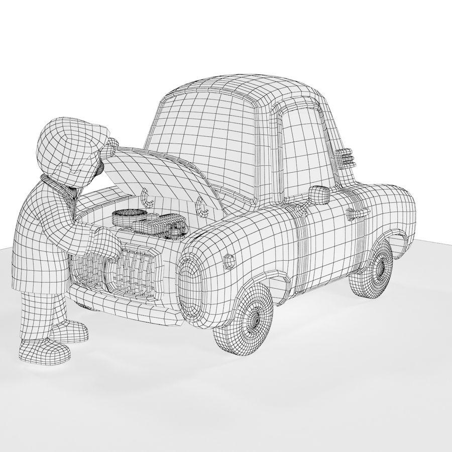 Cartoon samochód z kierowcą royalty-free 3d model - Preview no. 19