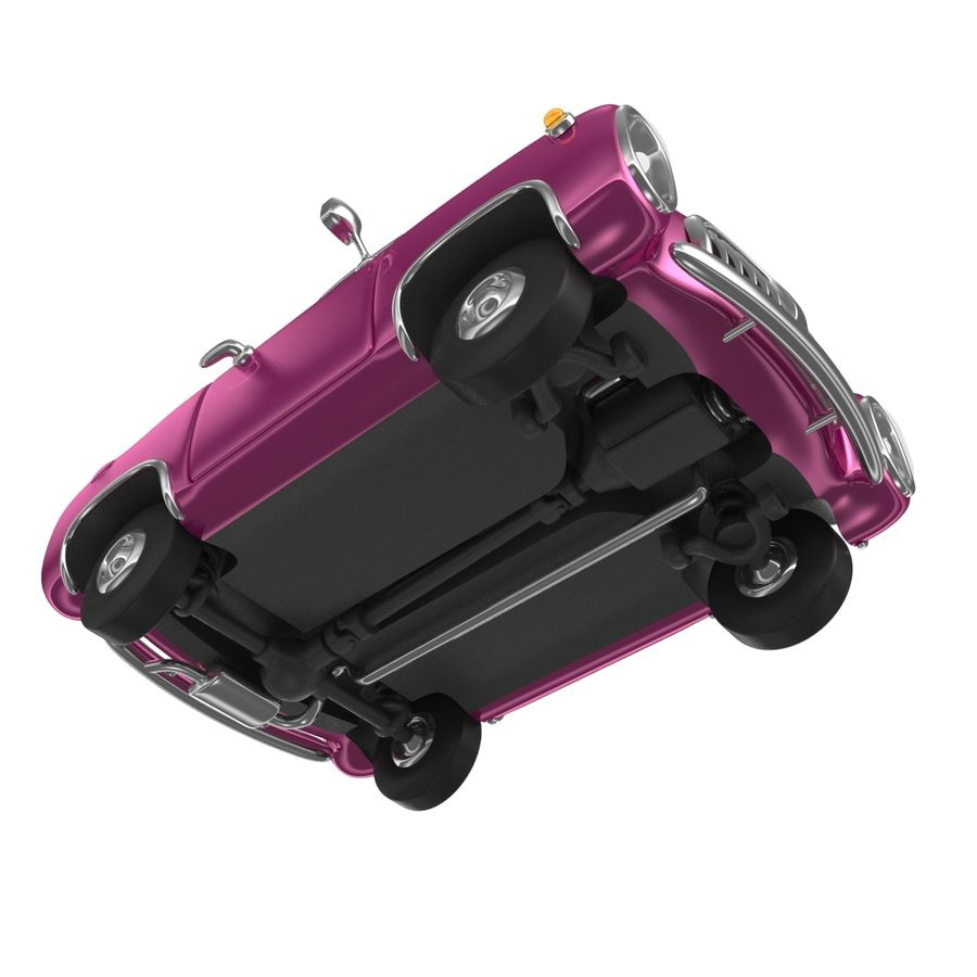 Cartoon samochód z kierowcą royalty-free 3d model - Preview no. 6