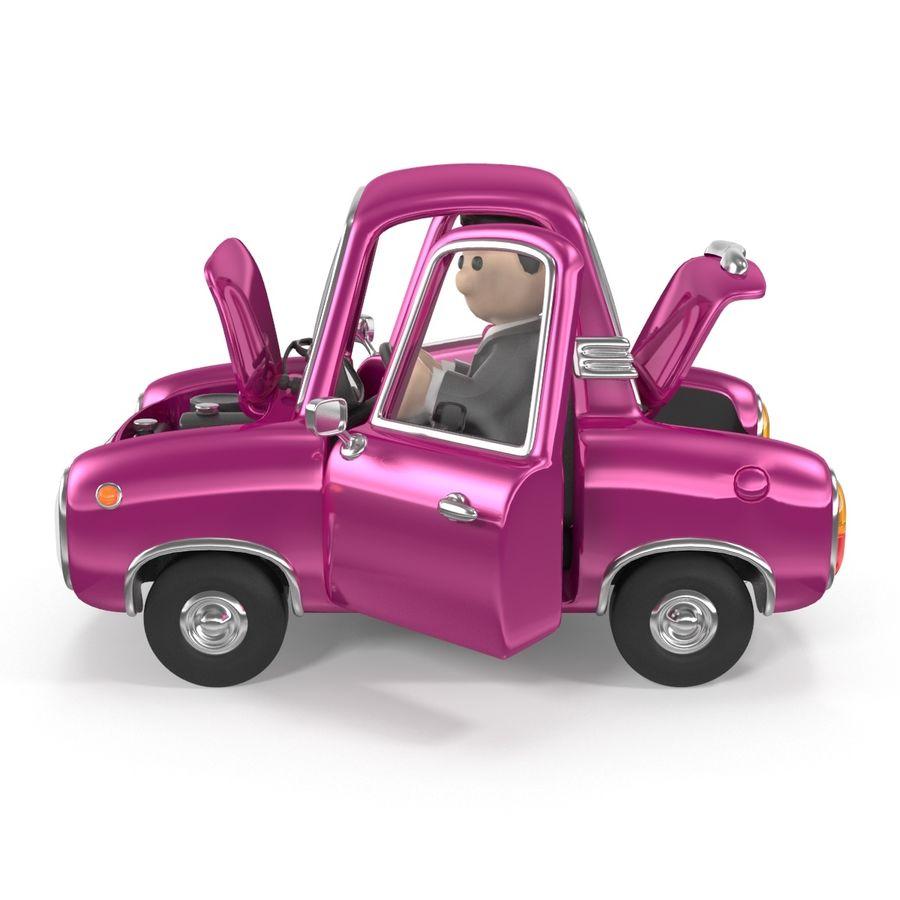 Cartoon samochód z kierowcą royalty-free 3d model - Preview no. 14