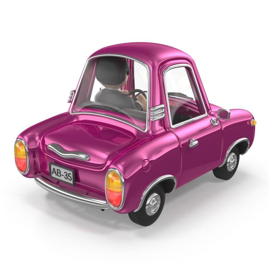 Cartoon samochód z kierowcą royalty-free 3d model - Preview no. 7