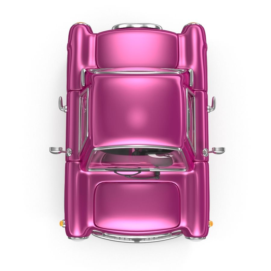 Cartoon samochód z kierowcą royalty-free 3d model - Preview no. 9
