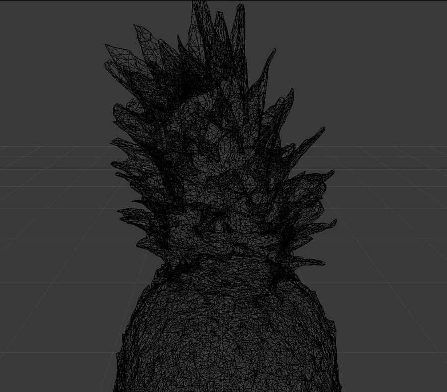 Pineapple royalty-free 3d model - Preview no. 5