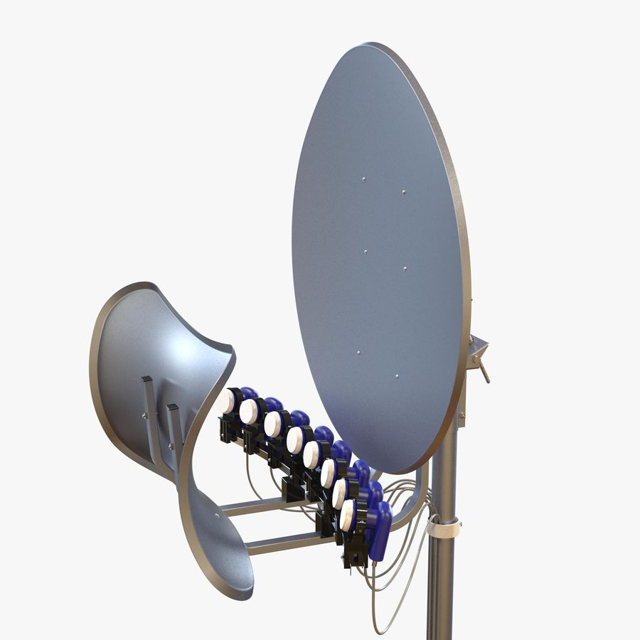 T90 Satellietschotel royalty-free 3d model - Preview no. 2