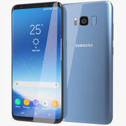 Samsung Galaxy S8 Plus Coral Blue 3d model
