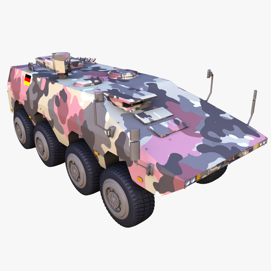 GTK Boxer Armored Military Vehicle royalty-free 3d model - Preview no. 7