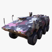 GTK Boxer Armored Military Vehicle 3d model