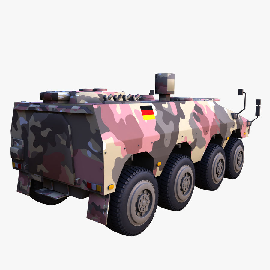 GTK Boxer Armored Military Vehicle royalty-free 3d model - Preview no. 6