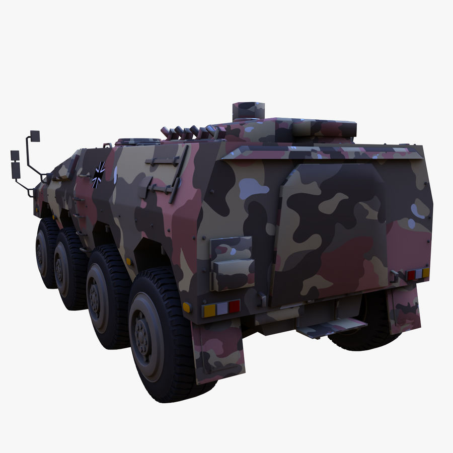 GTK Boxer Armored Military Vehicle royalty-free 3d model - Preview no. 5