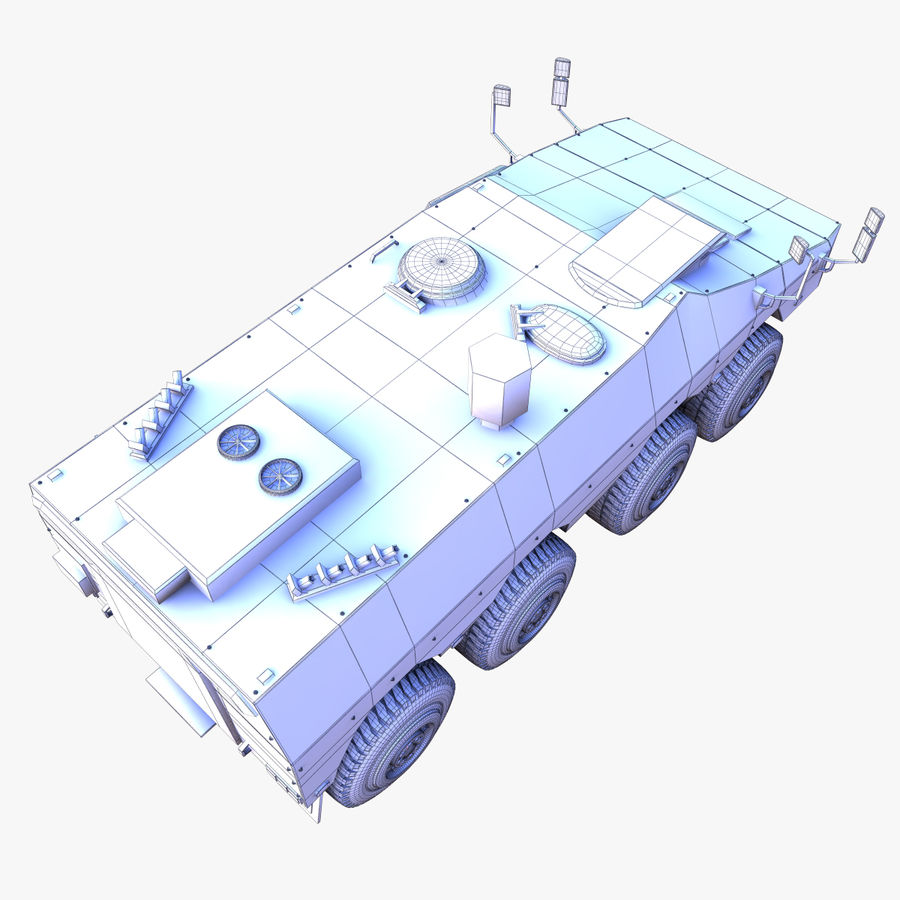GTK Boxer Armored Military Vehicle royalty-free 3d model - Preview no. 13