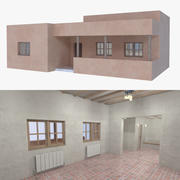 Adobe house four interior + exterior full 3d model