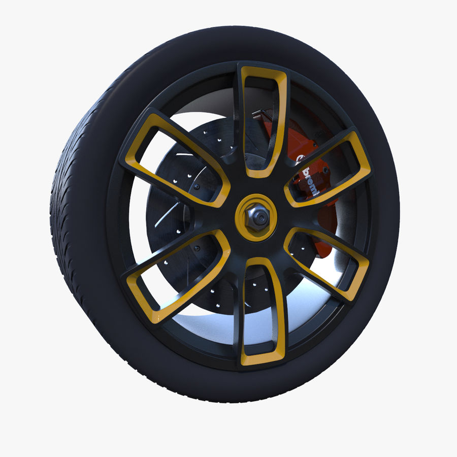 Racing Wheel royalty-free 3d model - Preview no. 1