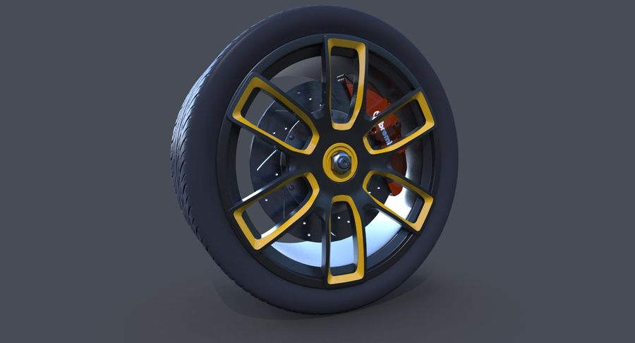 Racing Wheel royalty-free 3d model - Preview no. 3